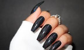 Coffin Black Nail Designs 50 Most Trendy Sexy Dark Coffin Nails Design For Weekend