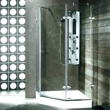 3 piece shower kit 3 piece shower kit axis corner shower solutions showers chrome acrylic 3 piece shower kit