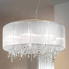 chandeliers silver mist hanging crystal drum shade chandelier large lamp shades for table lamps bedroom