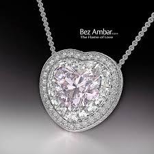 pink diamond pendant heart shaped blaze