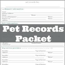 Pet Information Template Pet Health Record Template Canine Shot Jonandtracy Co