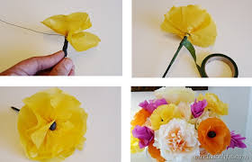 How To Make A Flower Out Of Tissue Paper Step By Step Our Lake Life Diy Handmade Paper Flower Bouquet Our Lake Life