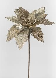 Weihnachtsstern 50cm Gold Mit Glitter Ja Kunstblumen Künstliche Blumen Poinsettie