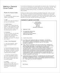General Cover Letter Resume Sample Generic Cover Letter 7 Documents In Pdf