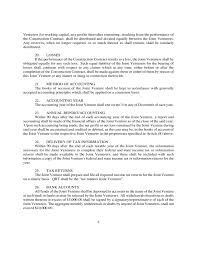 Construction Joint Venture Agreement Template