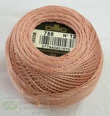 Dmc Pearl Cotton 8 Color Chart Dmc Perle Cotton Thread No 8 10g Ball 758 Very Light