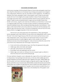 comic books and graphic novels essay comic books and graphic novelsin this essay i am going to be discussing the history of