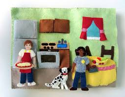 this fire station project is a full stand alone quiet book just like the dollhouse book but using full size x sheets of felt for each page