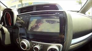 2015 honda fit EX interior touch screen audio - YouTube