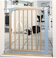 babydan designer pressure indicator safety gate silver beech 69 1 75 8cm