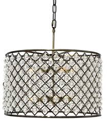 cassiel crystal drum chandelier antique brass transitional in drum for popular house crystal drum chandelier ideas