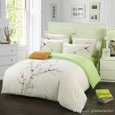 cotton king size comforter sets new elegant embroidery plum tree magpie birds bedding 13