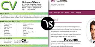Between Curriculum Difference Resume Vitae