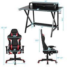 chair set ergonomic e sport gamer desk