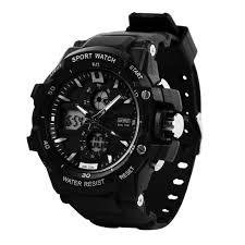 men glamorous mens digital steel sport wrist watch black dial pleasant watches for men dezine analog digital watch menblack readeel dual movement sports electronic shockproof silicone