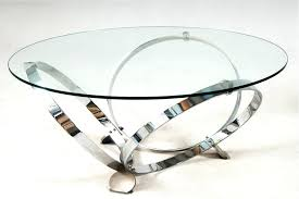 glass top coffee table with metal base glass top coffee table with shiny metal circle legs