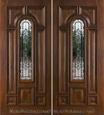Double front entry doors no windows | Exterior Double Doors ...