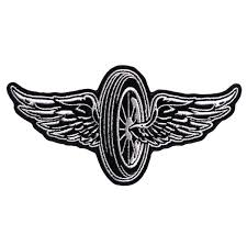 hot leathers flying wheel embroidered patch