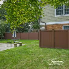 Brown vinyl privacy fence Textured Vinyl Beautiful Brown Illusions Vinyl Fence Is The Best Brown Pvc Vinyl Fence Available brown Illusions Vinyl Fence 16 Gorgeous Brown Illusions Vinyl Fence Images Illusions Vinyl Fence