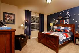 Rooms With Navy Blue Curtains Kids Traditional With Brown Armchair Blue  Accent Wall Teenager Boys Bedroom