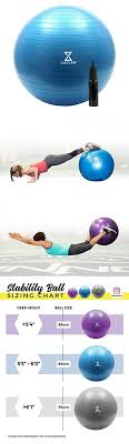 Body Ball Size Chart Exercise Ball For Stability Strength Balance Yoga Or