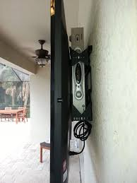 hang your tv on the wall. Beautiful Hang How To Mount Your TV Outside And Hide The Cable Box Wires Behind It Inside Hang Your Tv On The Wall 7