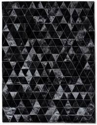 bespoke global  product detail  kahn cowhide rug  black