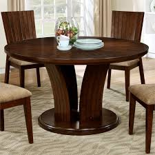 furniture of america jovan round dining table in dark oak