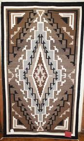 picture of two grey hill navajo rug rt