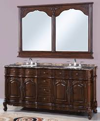 vintage bathroom vanity mirror. Decoration Brilliant Vintage Bathroom Vanity Mirrors Over Granite Slab Countertops With Round Ceramic Undermount Sink And Mirror