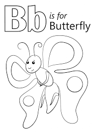 Letter B Is For Butterfly Coloring Page Kids Education Letter