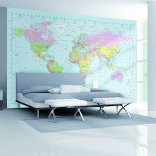 world map b002 giant wall mural free paste on modern wall world map