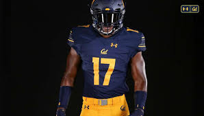 under armour football. front of cal\u0027s new home football jerseys. photo: nawa mitchell/cal athletics under armour a