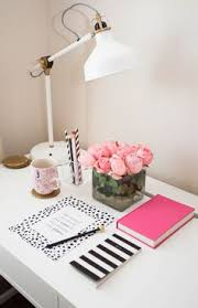 pretty office decor. pretty office supplies there is something about hot pink and black white prints that decor