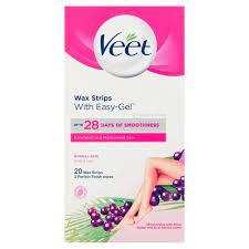 veet wax strips normal skin with easy