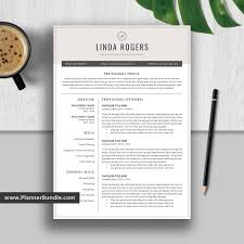Best Resume Template Word 2019 Editable Cv Template Design Job Resume Template Design Modern And Creative Resume Instant Download Linda