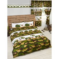 army camp double duvet cover and pillowcase set bedroom