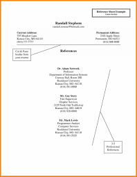 Sample Reference Page Resume Reference Page Resumes Template Of ...