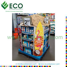 Display Stand Hs Code Supermarket Promotion paper floor display carton display stand 100