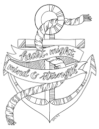 coloring pages of anchors of cool 9 m free anchor coloring pages printable