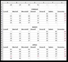 Calendario Settimanale Excel Zwiftitaly