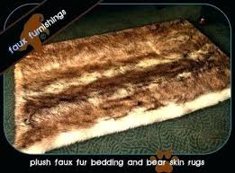 wolf skin rug plush faux fur animal pelt realistic coyote throw accent with head rugs arctic