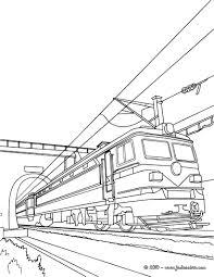 Coloriages Arriv E Du Train Colorier Fr Hellokids Com