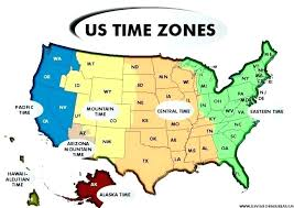 Printable Time Zone Map With States Pergoladach Co