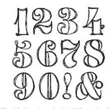 Cool Number Fonts Sassafras Lass Clear Stamp Sets Swirly Numbers 1 Art Hand
