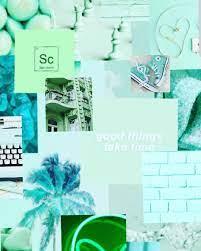 Mint green wallpaper ...