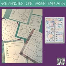 One Pagers Sketchnotes Templates By Spark Creativity