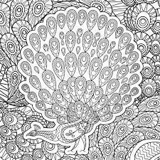 Kleurplaat Voor Volwassenen Met Peacock Vector Premium Download