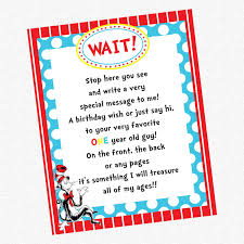 Dr Seuss Birthday Party - Guest Book ...