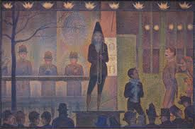 circus sideshow parade de cirque by georges seurat oil on canvas 1887 1888 the metropolitan museum of art new york city bequest of stephen c clark